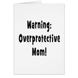 negro sobreprotector amonestador de la mamá tarjeton