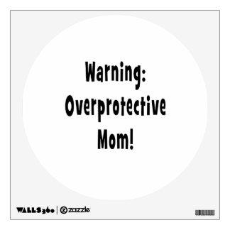 negro sobreprotector amonestador de la mamá vinilo