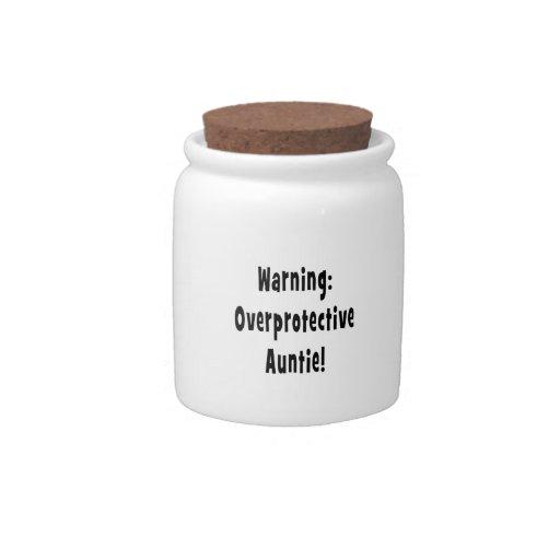 negro sobreprotector amonestador de la tía jarra para caramelo