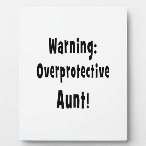 negro sobreprotector amonestador de la tía placas de plastico