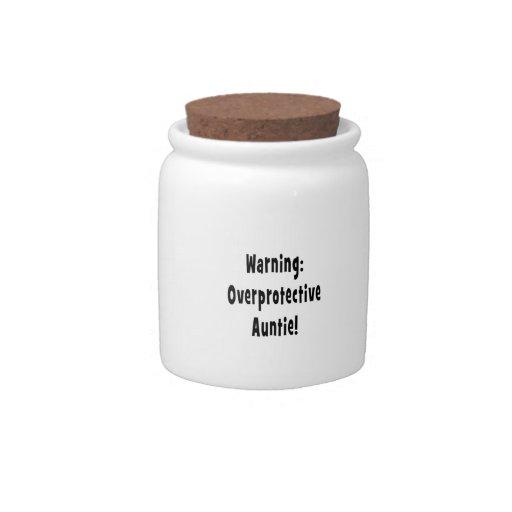 negro sobreprotector amonestador de la tía platos para caramelos