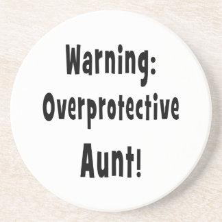 negro sobreprotector amonestador de la tía posavasos manualidades