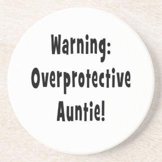 negro sobreprotector amonestador de la tía posavasos para bebidas