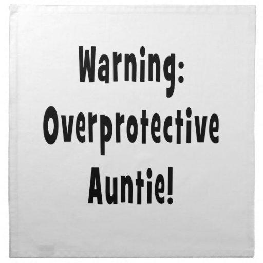 negro sobreprotector amonestador de la tía servilletas de papel