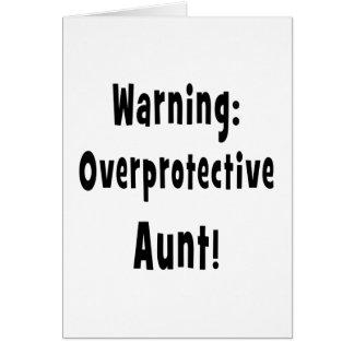 negro sobreprotector amonestador de la tía felicitacion