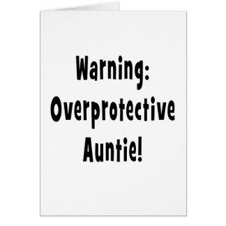 negro sobreprotector amonestador de la tía tarjeta de felicitación