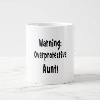 negro sobreprotector amonestador de la tía tazas extra grande