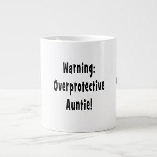 negro sobreprotector amonestador de la tía taza jumbo