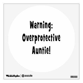 negro sobreprotector amonestador de la tía vinilo