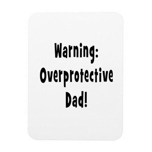negro sobreprotector amonestador del papá iman de vinilo