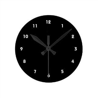 negro sobreprotector amonestador del papá reloj redondo mediano