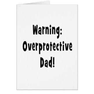 negro sobreprotector amonestador del papá tarjeta de felicitación