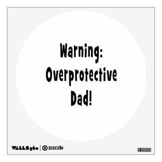 negro sobreprotector amonestador del papá vinilo adhesivo