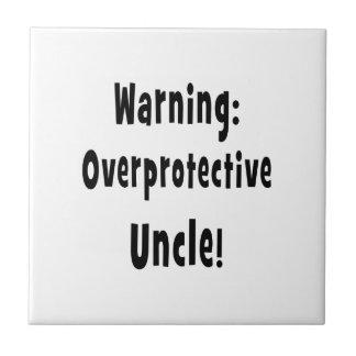 negro sobreprotector amonestador del tío azulejo cuadrado pequeño