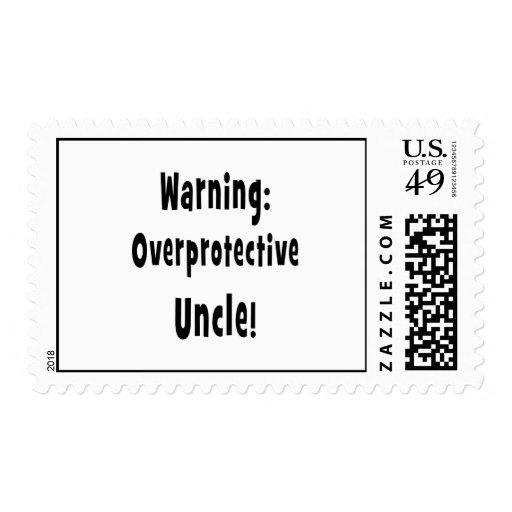 negro sobreprotector amonestador del tío estampillas