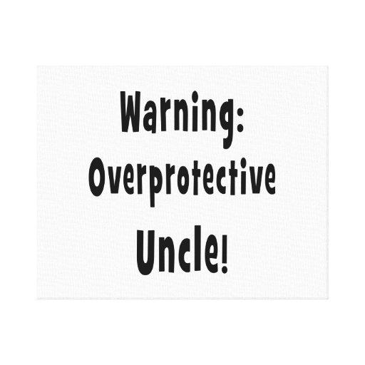 negro sobreprotector amonestador del tío lona envuelta para galerías