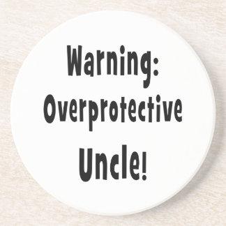 negro sobreprotector amonestador del tío posavaso para bebida