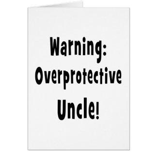 negro sobreprotector amonestador del tío tarjeta de felicitación