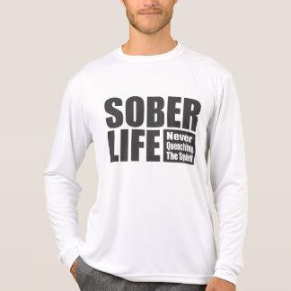 Negro sobrio de la Vida Remera