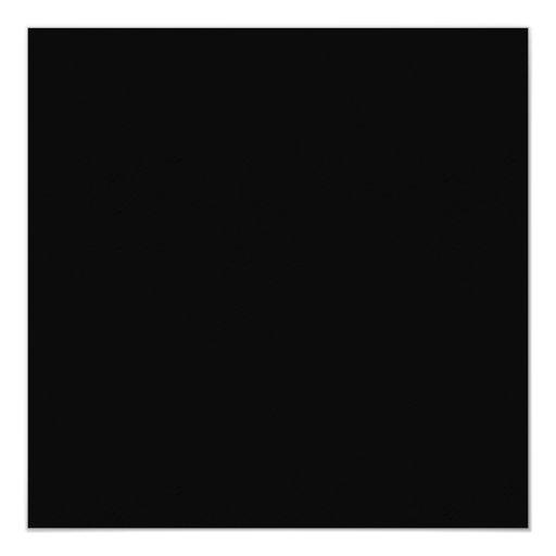 Negro sólido invitación 13,3 cm x 13,3cm