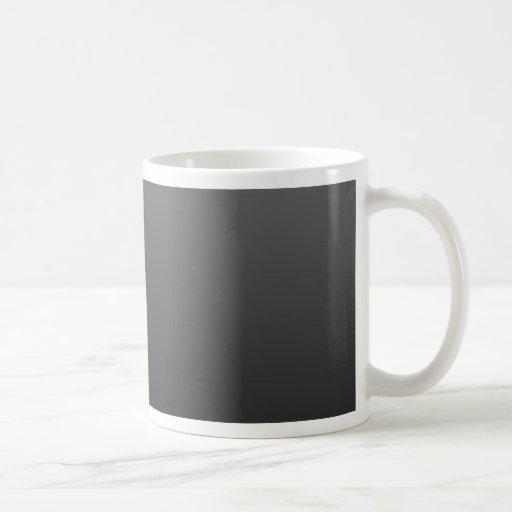 negro-sombra taza básica blanca