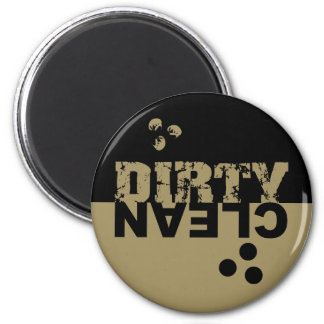 Negro sucio/limpio y oro del imán del lavaplatos