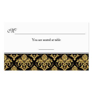 Negro, tarjeta del lugar de la recepción del tarjetas de visita