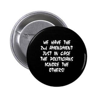 Negro tenemos 2da enmienda pin redondo de 2 pulgadas