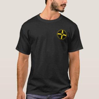 Negro teutónico de los caballeros y camisa redonda