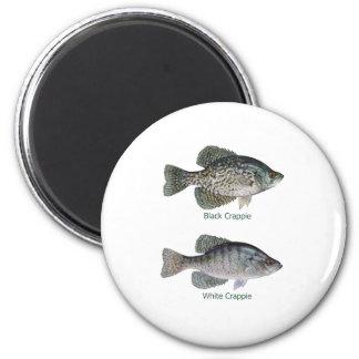Negro - tipo de pez blanco (titulado) imán redondo 5 cm