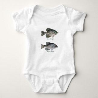 Negro - tipo de pez blanco (titulado) poleras