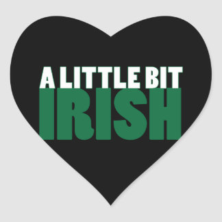 Negro un poco irlandés pegatina en forma de corazón