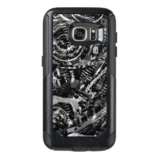 Negro V-Gemelo abstracto Funda Otterbox Para Samsung Galaxy S7
