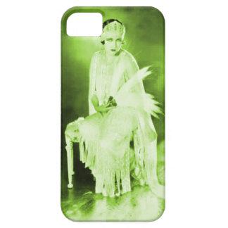 Negro verde del caso del iPhone 5 de la aleta de Funda Para iPhone SE/5/5s