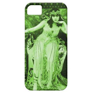 Negro verde del caso del iPhone 5 de Theda Bara Funda Para iPhone SE/5/5s
