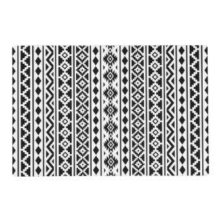 Negro vertical de Ptn II de la esencia azteca en Tapete Individual