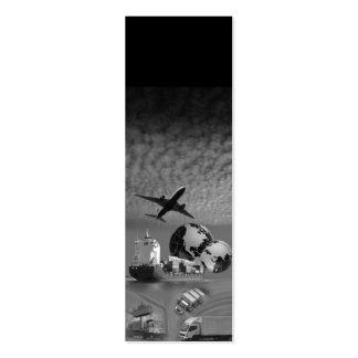 Negro vertical flaco de la plantilla de la tarjetas de visita mini