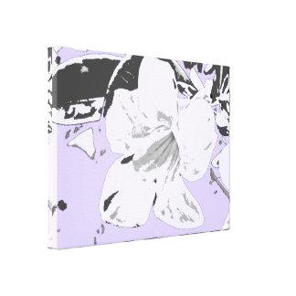 Negro violeta floral tropical del vintage impresiones de lienzo