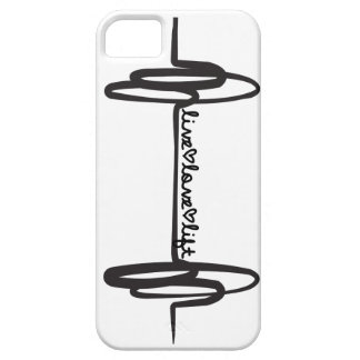 Negro vivo del Doodle de la elevación del amor iPhone 5 Carcasa