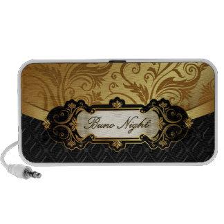 Negro y accesorios de Bunco del oro iPhone Altavoces