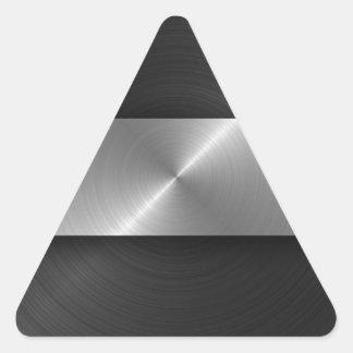 Negro y acero pegatina triangular