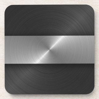 Negro y acero posavasos