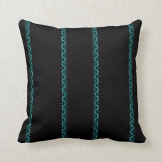 Negro y almohada de tiro rayada del zigzag de la cojín decorativo