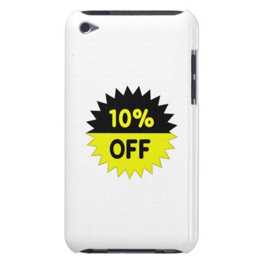 Negro y amarillee el 10 por ciento apagado iPod Case-Mate carcasas