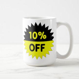 Negro y amarillee el 10 por ciento apagado taza clásica