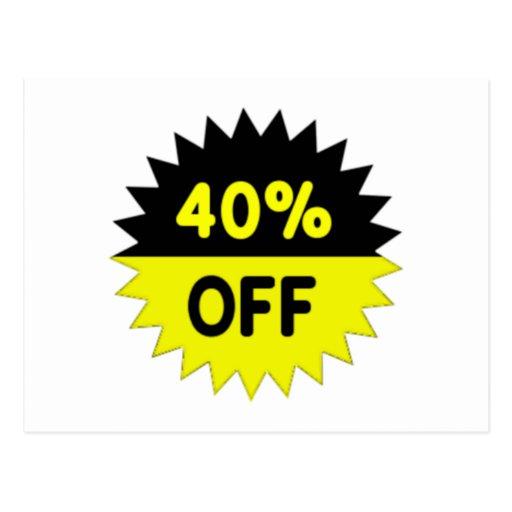 Negro y amarillee el 40 por ciento apagado tarjeta postal