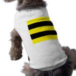 Negro y amarillo 5 ropa de perros