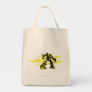 Negro y amarillo del abejorro bolsa tela para la compra