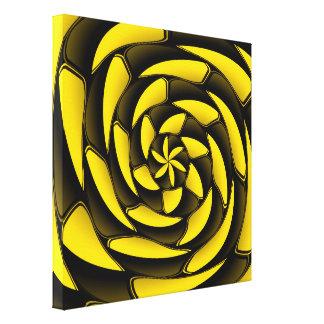Negro y amarillo del alto contraste impresión de lienzo