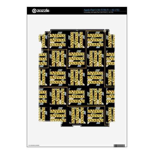 Negro y amarillo iPad 3 skins